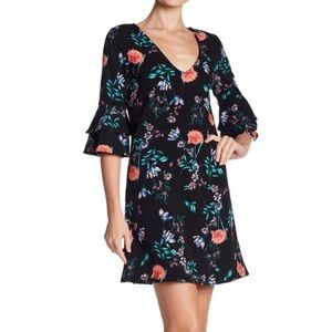 NWT THE VANITY ROOM Floral Dark Navy Dress Size XS